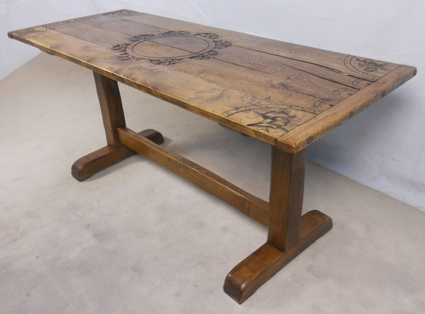 Rustic Oak Dining Tables Throughout Best And Newest Rustic Light Oak Refectory Dining Table – Sold (View 16 of 20)
