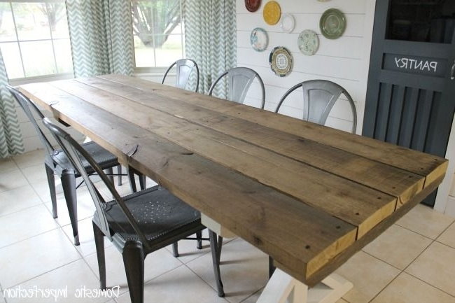 Rustic Picnic Style Dining Table (Gallery 4 of 20)