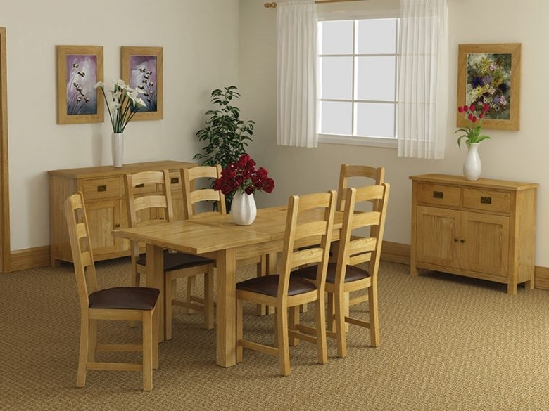 Salisbury Oak Compact Extending Dining Table – Furniture Barn With Latest Oak Dining Suite (Gallery 5 of 20)