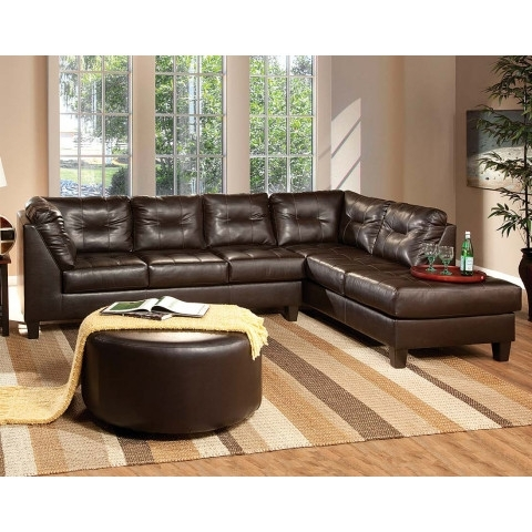 San Marino Chocolate Brown Sectional Sofa (View 13 of 15)