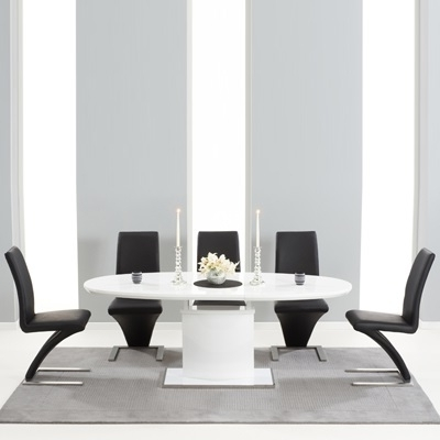 Savana High Gloss Extending Dining Table With 6 Harvey Black Chairs Within Popular Black Gloss Dining Tables And 6 Chairs (View 18 of 20)
