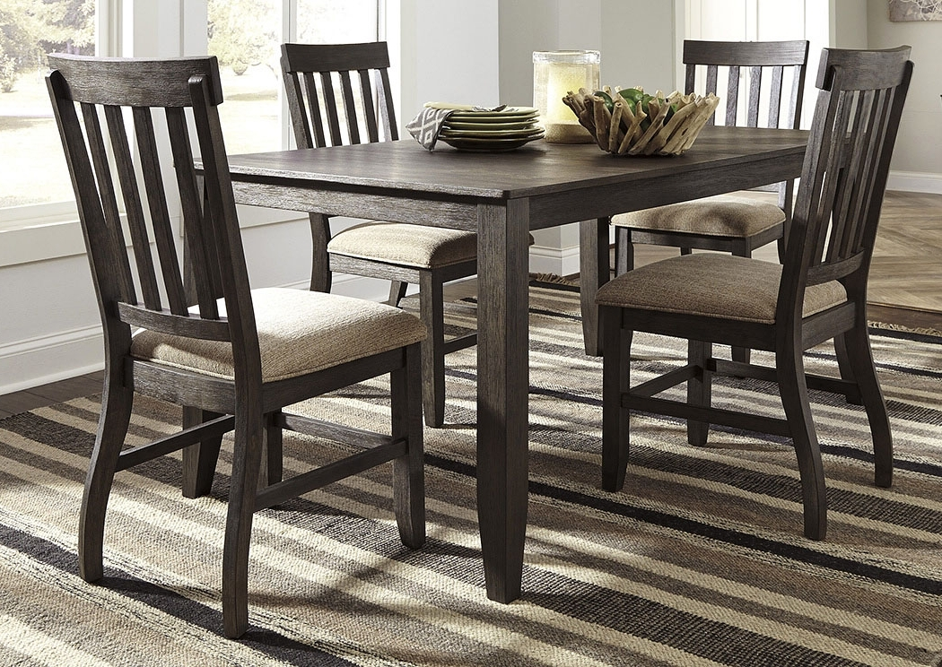 Scott's Furniture Dresbar Grayish Brown Rectangular Dining Room Regarding Favorite Craftsman 5 Piece Round Dining Sets With Uph Side Chairs (View 14 of 20)