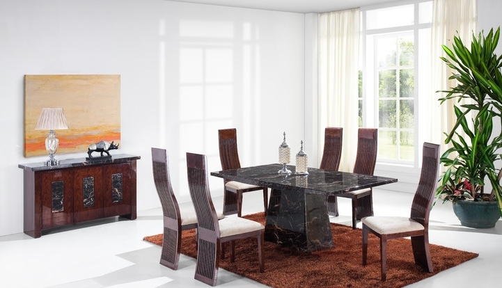 Scs Dining Room Furniture With Regard To Most Popular Adelaide 1.8M Solid Marble Dining Table And 4 Chairs (Gallery 2 of 20)