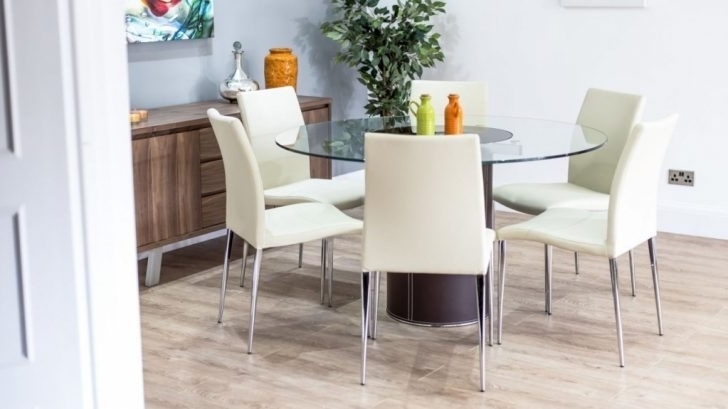 Seater Round Glass Dining Table In 6 Seater Round Dining Table And For Current 6 Seat Round Dining Tables (View 15 of 20)