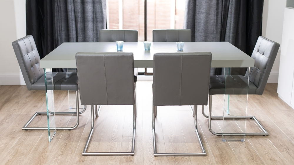Seats 6 To 8 With Regard To Grey Glass Dining Tables (View 17 of 20)