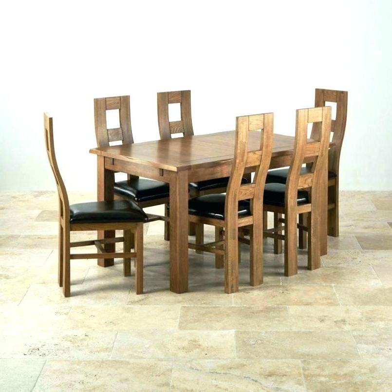 Second Hand Oak Dining Chairs Regarding Best And Newest Oak Dining Room Table Chairs – Hiqua (View 3 of 20)