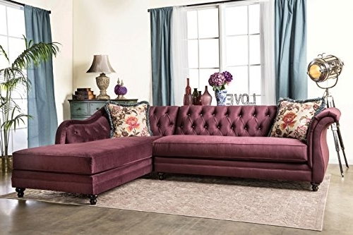 Sectional Sofas – Furniture Of America 2 Piece Corinee Glamorous Within Recent Glamour Ii 3 Piece Sectionals (View 15 of 15)