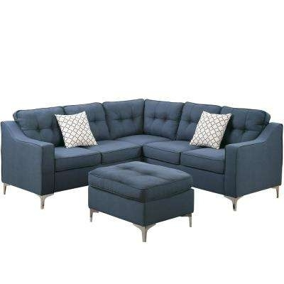Sectionals – Living Room Furniture – The Home Depot With Regard To Best And Newest Gordon 3 Piece Sectionals With Raf Chaise (View 4 of 15)