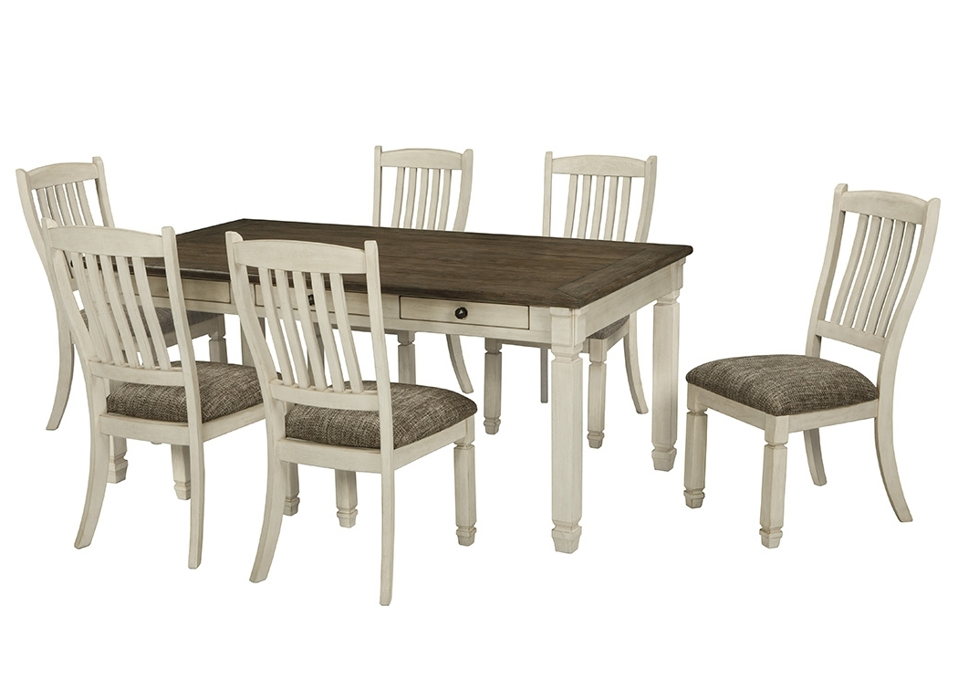 Select Imports Furniture And Decor Bolanburg Antique White Regarding Well Liked Craftsman 7 Piece Rectangle Extension Dining Sets With Uph Side Chairs (View 16 of 20)