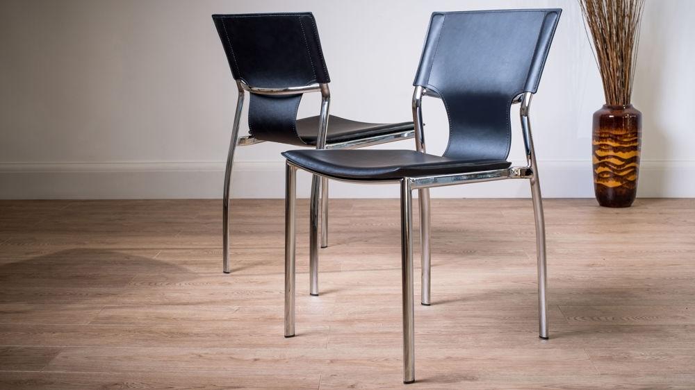 Serroni Trendy Chrome Dining Chair (View 4 of 20)