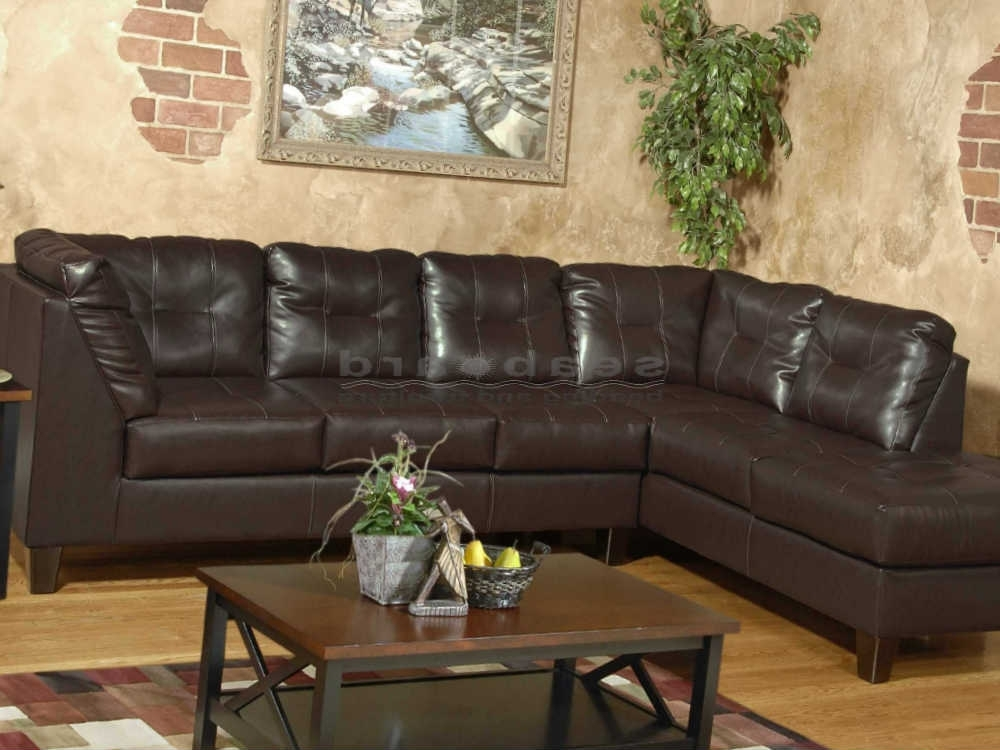 Serta San Marino Chocolate Laf Sectional 2500 Inside Newest Evan 2 Piece Sectionals With Raf Chaise (View 4 of 15)