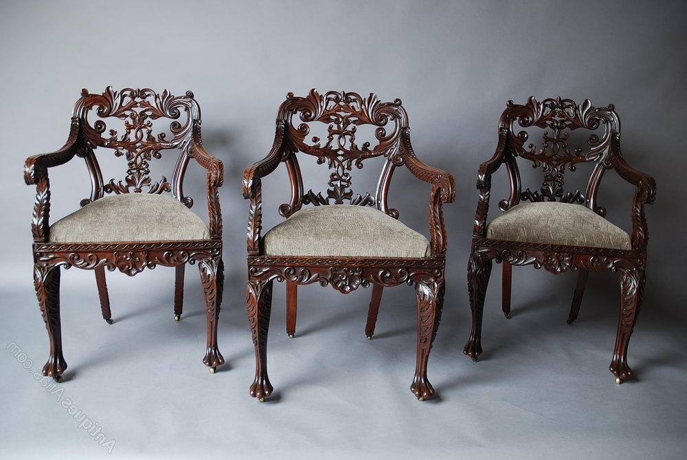Set Of Six Anglo Indian Chairs – Antiques Atlas For Most Recent Indian Dining Chairs (View 18 of 20)