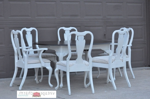 Shabby Chic Dining Chairs Pertaining To Popular Shabby Chic White Dining Table And Chairs (View 12 of 20)