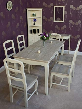 Shabby Chic Dining Chairs With Well Known The Home Furniture Store Classic Casamore Devon Rectangular Dining (View 10 of 20)