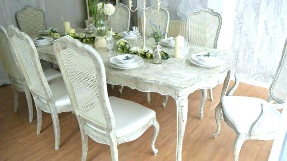 Shabby Chic Dining Room Sets Chairs Shabby Chic Dining Room Ch Inside Widely Used Shabby Dining Tables And Chairs (View 6 of 20)