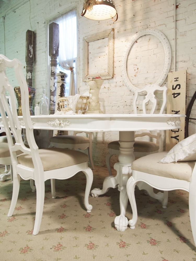 Shabby Chic Dining Sets Throughout 2018 Dining Table French Shabby Chic Dining Table (View 16 of 20)