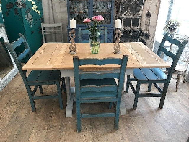 Shabby Chic Extendable Dining Table And Four John Lewis Chairs (View 16 of 20)