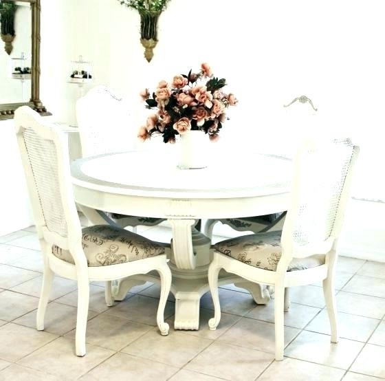 Shabby Dining Tables And Chairs With Newest Shabby Chic Dining Room Sets Chairs Shabby Chic Dining Room Ch (View 17 of 20)