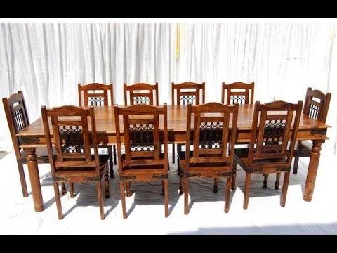 Sheesham Dining Tables 8 Chairs With Well Known Victoria Jali 8 Seater Dining Table (View 15 of 20)