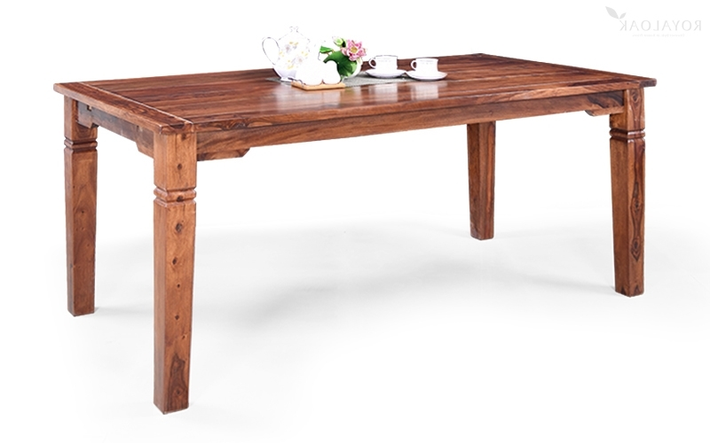Sheesham Dining Tables In Newest Buy Royaloak Vernis Sheesham Wood Dining Setonline In India (View 10 of 20)