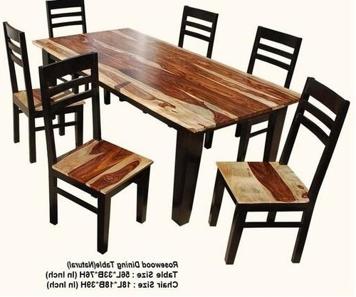 Sheesham Wood Dining Chairs With Regard To Most Current Pbc Wooden Sheesham Wood Dining Table, Rs 20000 /piece, Pal Balaji (View 14 of 20)