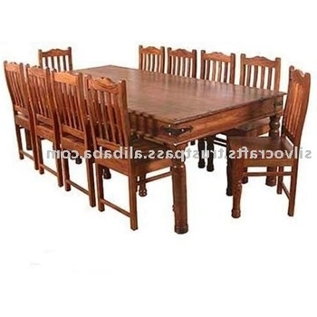 Sheesham Wood Dining Chairs With Regard To Most Popular Indian Jodhpur Rajasthan Solid Sheesham Wood Dining Sets With Dining (Gallery 6 of 20)
