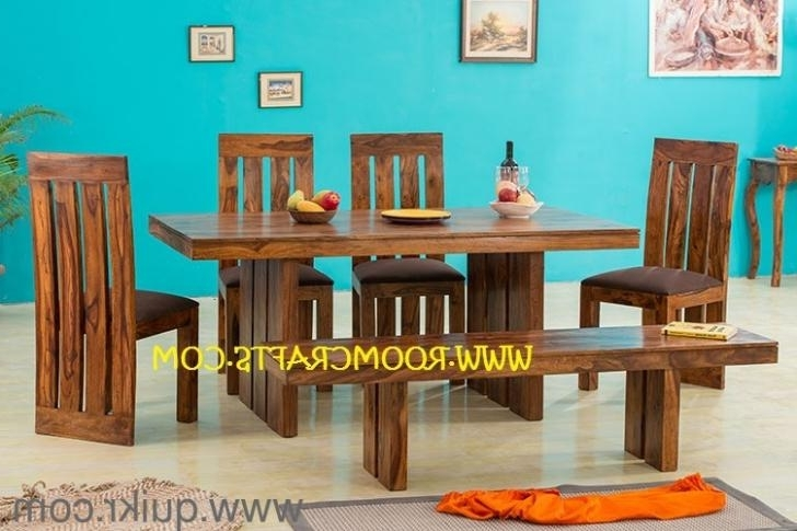 Sheesham Wood Home Furniture Dining Sets Online Furniture Stores With Widely Used Dining Tables Chairs (Gallery 20 of 20)