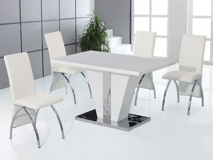 Shiny White Dining Tables In Best And Newest  (View 16 of 20)