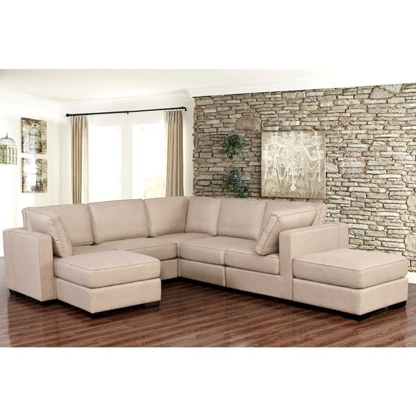Shop Abbyson Harper Fabric Modular 7 Piece Sectional – Free Shipping Throughout Most Recently Released Harper Down 3 Piece Sectionals (View 12 of 15)