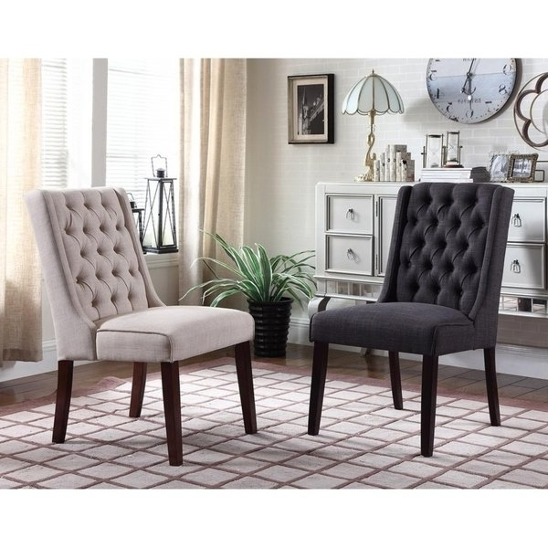 Shop Best Master Furniture Y782 Upholstered Side Chair (Set Of 2 Throughout Most Current Caira 7 Piece Rectangular Dining Sets With Upholstered Side Chairs (View 8 of 20)
