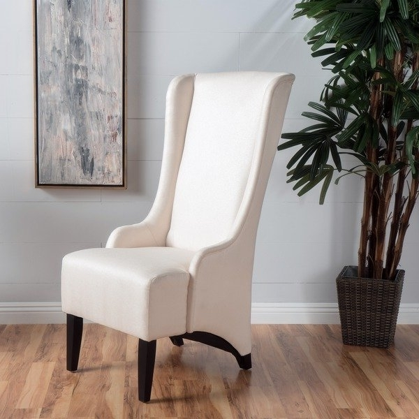 Shop Callie High Back Fabric Dining Chairchristopher Knight Home Intended For Popular High Back Dining Chairs (View 17 of 20)