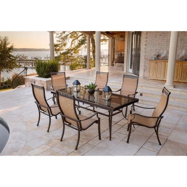 Shop Hanover Monaco 7 Piece Dining Set With Six Sling Back Dining Throughout Current Monaco Dining Sets (Gallery 12 of 20)