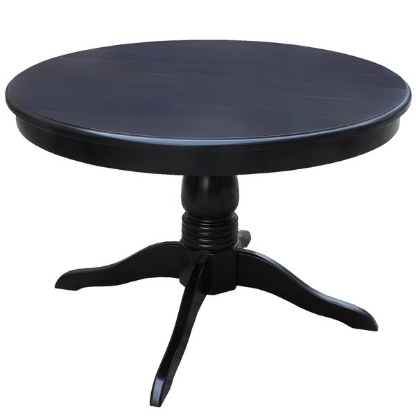 Shop Metro Black Round Dining Table – Free Shipping Today Throughout Widely Used Dark Round Dining Tables (View 14 of 20)