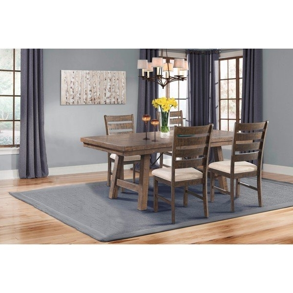Shop Picket House Furnishings Dex 5Pc Dining Set Table, 4 Ladder Intended For Latest Caden 7 Piece Dining Sets With Upholstered Side Chair (View 17 of 20)