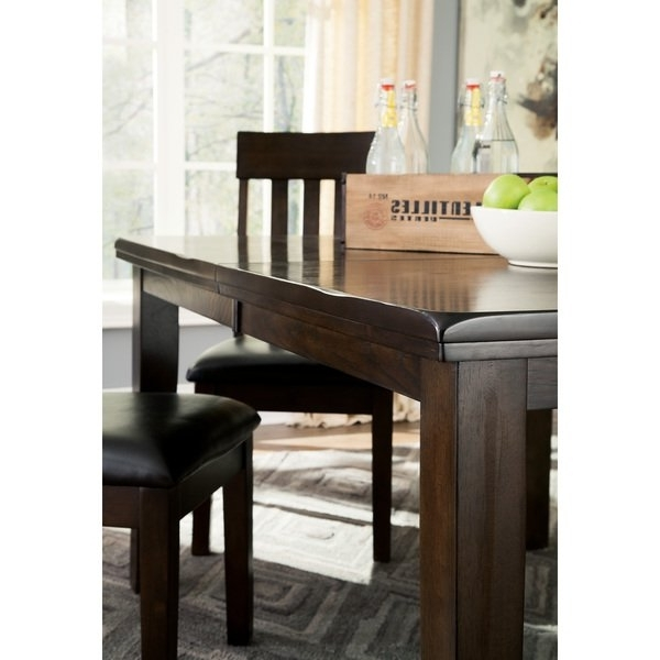 Shop Signature Designashley Haddigan Dark Brown Dining Table With Regard To 2018 Dark Dining Tables (View 19 of 20)