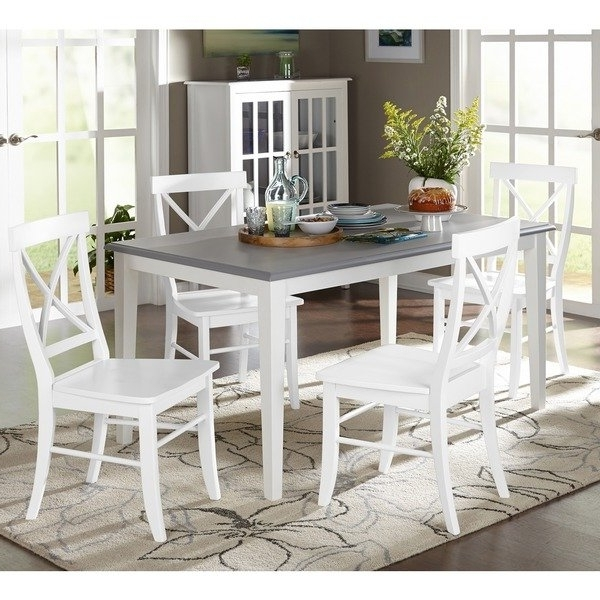 Shop Simple Living 5 Piece Helena Dining Set – Free Shipping Today Regarding Most Recent Laurent 5 Piece Round Dining Sets With Wood Chairs (Gallery 13 of 20)