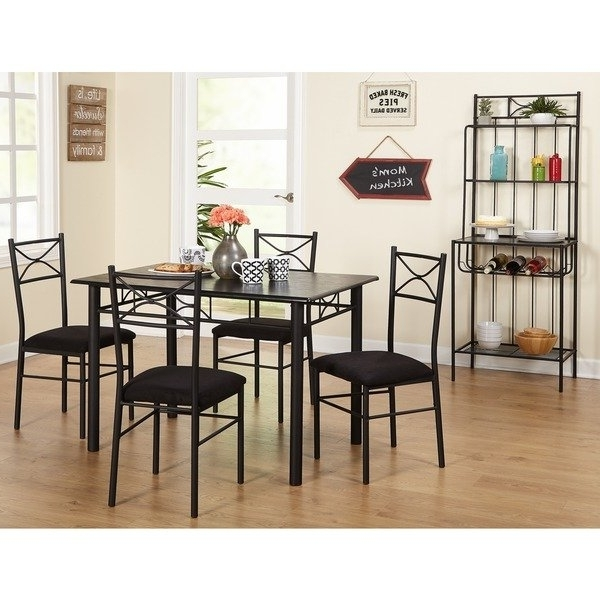 Shop Simple Living Valencia 6 Piece Metal Dining Set With Baker's Regarding Best And Newest Valencia 5 Piece Counter Sets With Counterstool (Gallery 9 of 20)