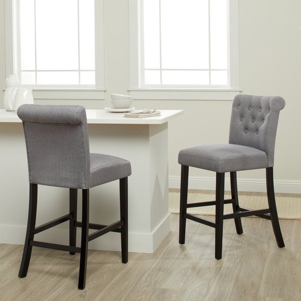 Featured Photo of Laurent 7 Piece Counter Sets With Upholstered Counterstools