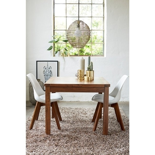 Shop Walnut Modern Square Extendable Dining Table – On Sale – Free Intended For Trendy Square Extendable Dining Tables (View 5 of 20)