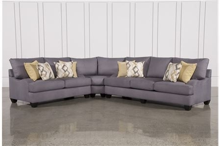 Sierra Foam 3 Piece Sectional – Main (View 3 of 15)