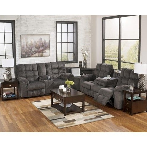 Signature Designashley Acieona – Slate Reclining Sectional Sofa Throughout Newest Calder Grey 6 Piece Manual Reclining Sectionals (View 12 of 15)