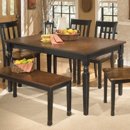Signature Designashley Owingsville Rectangular Dining Table With Newest Candice Ii Extension Rectangle Dining Tables (View 14 of 20)