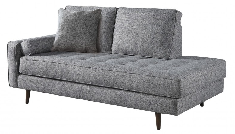 Signature Designashley Zardoni Charcoal Raf Corner Chaise In Popular Evan 2 Piece Sectionals With Raf Chaise (View 15 of 15)