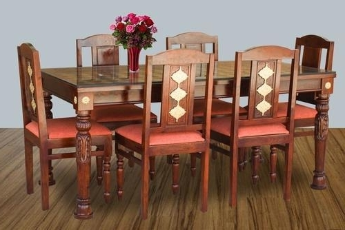 Six Chair Dining Table Set, Six Chairs Dining Table Sets Inside Famous Dining Tables And Six Chairs (View 18 of 20)