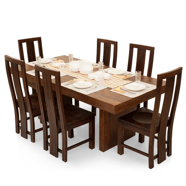 Six Seater Dining Tables Throughout Popular Jordan Capra 6 Seater Dining Table Set – Lock And Pull (View 16 of 20)
