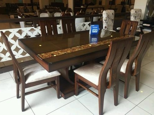 Six Seater Dining Tables With Latest Teak Dining Table ( 6 – Seater ) At Rs 51400 /set (View 17 of 20)