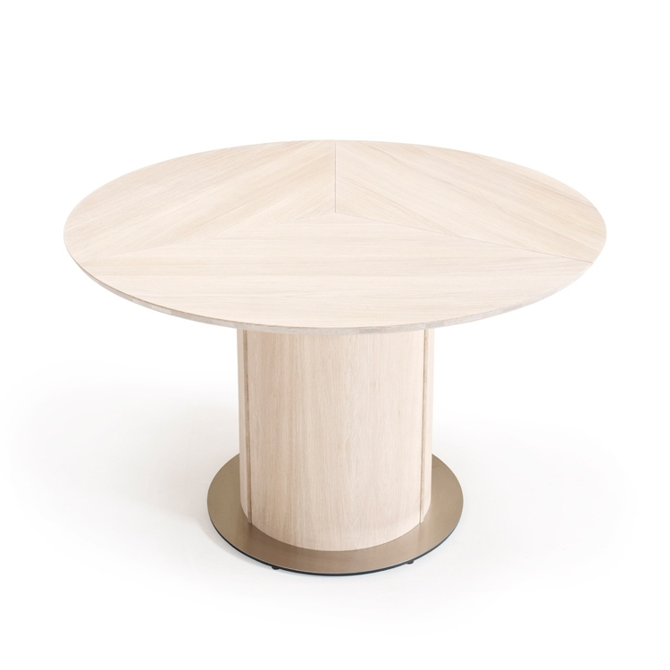 Skovby Oak Extending Round Dining Sm32 Table (View 18 of 20)