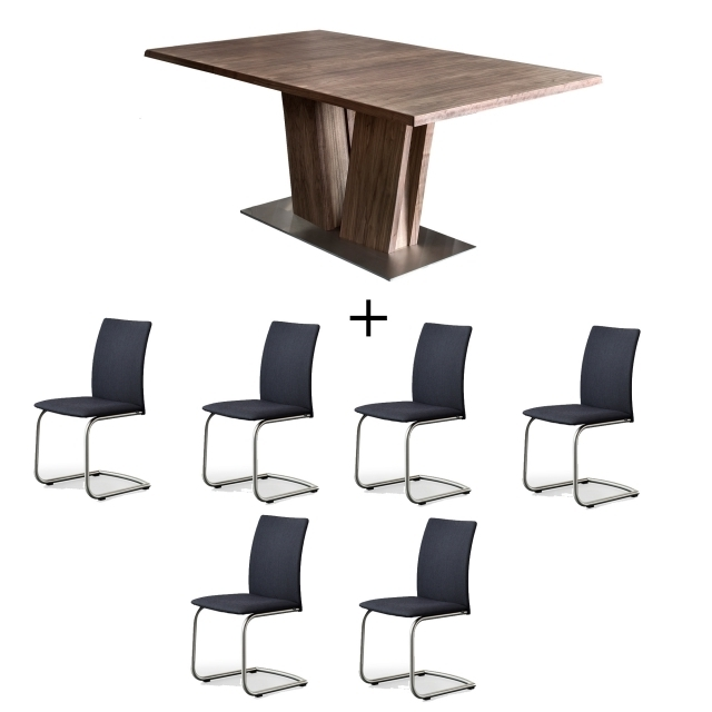 Skovby Walnut Dining Table And 6 Chairs – Dining Sets – Cookes Furniture Inside 2017 Walnut Dining Tables And 6 Chairs (Gallery 18 of 20)