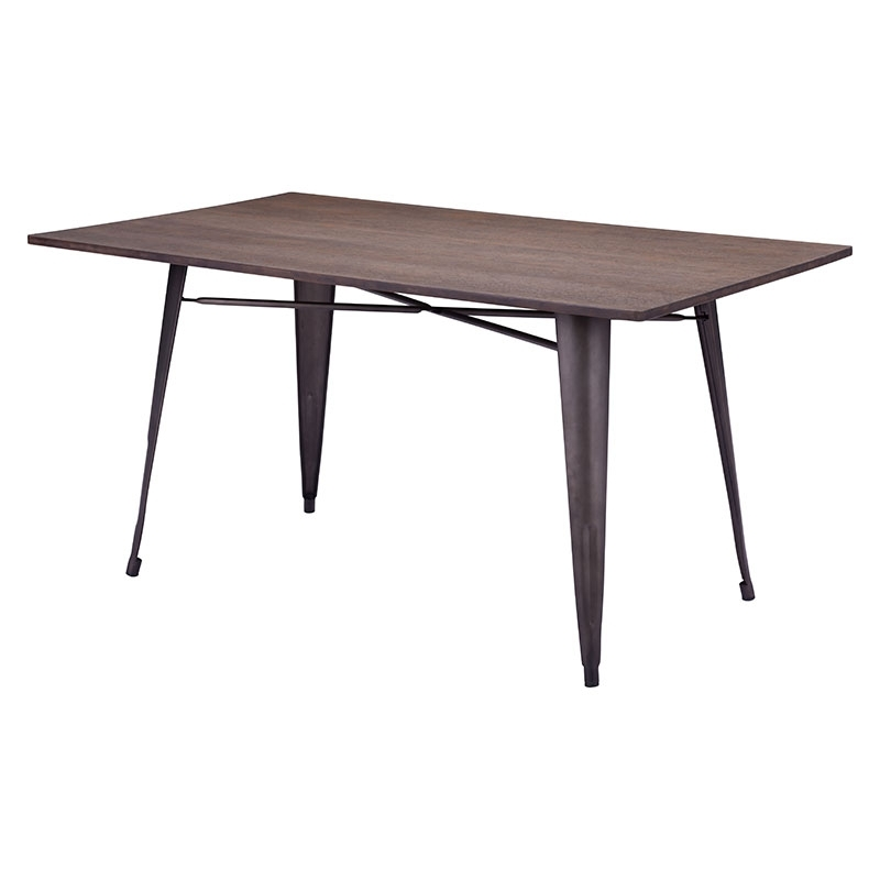 Sleek Dining Tables Within Most Recent Titus Rectangular Dining Table Rustic Wood – Modern Dining Tables (View 9 of 20)