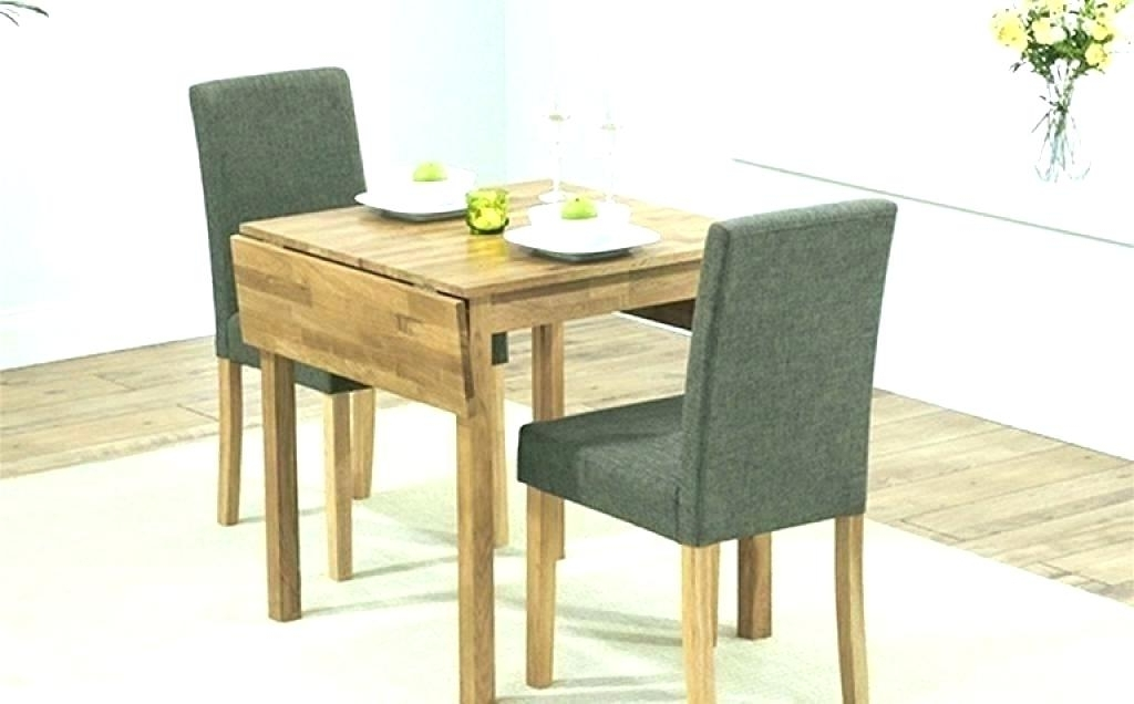 Small Drop Leaf Kitchen Table 2 Chairs Small Dining Table For 2 Pertaining To Favorite Two Seat Dining Tables (View 12 of 20)